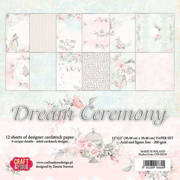CPS-DC30 Zestaw papierów 30,5x30,5cm-Craft&You Design-Dream Ceremony