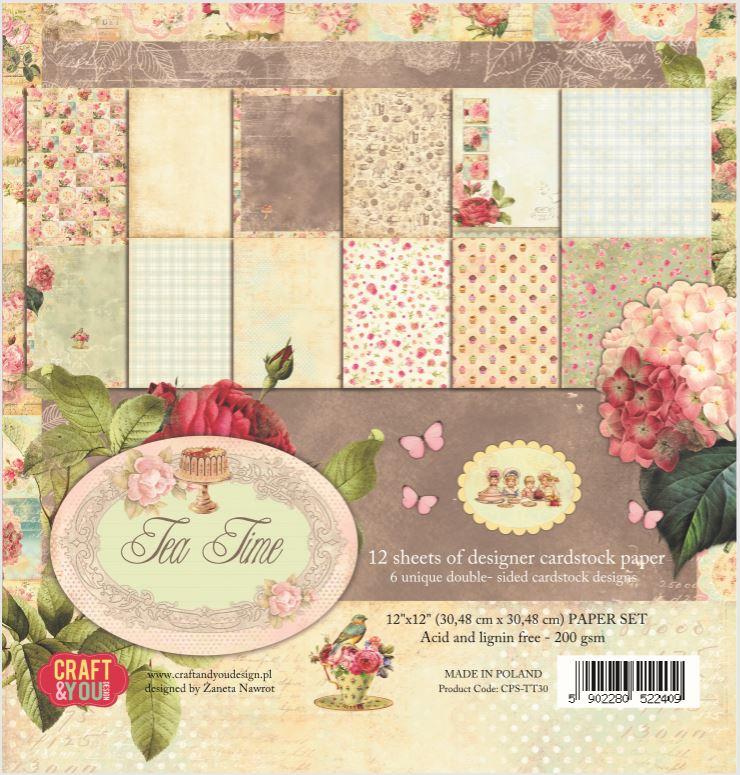CPS-TT30 Zestaw papierów 30,5x30,5 cm Craft&You Design-Tea Time