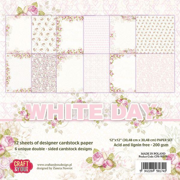 CPS-WD30 Zestaw papierów 30,5x30,5 cm Craft&You Design-White Day