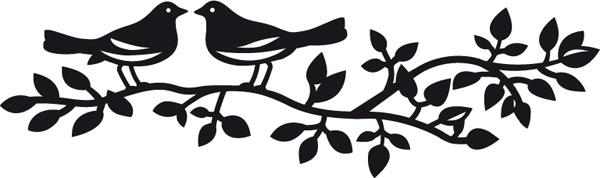 CR1264 Wykrojnik Craftables ptaszki na gałęzi
