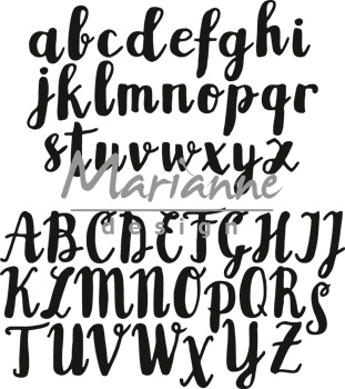CR1416 Wykrojniki Craftables Punch -brush alphabet