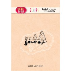 CS006 Stempel akrylowy Let it snow