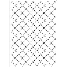 CTA4019 Folder do embossingu A4 - Daisy Lattice