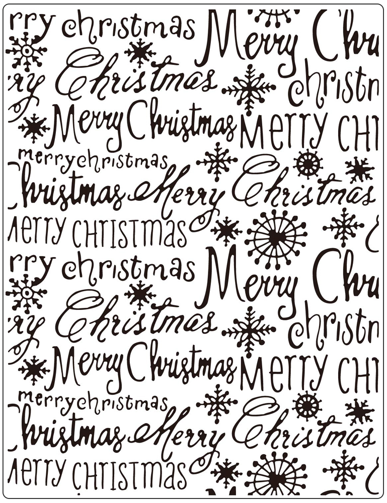 CTFD3112 Folder do embossingu- Merry Christmas  (14.6 x 19 cm)