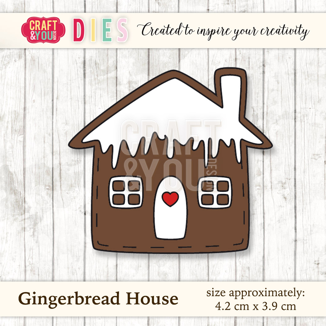 CW025 Wykrojnik Gingerbread House-piernik domek Craft&You Design