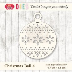 CW027 Wykrojnik Christmas Ball 4-bombka 4 Craft&You Design