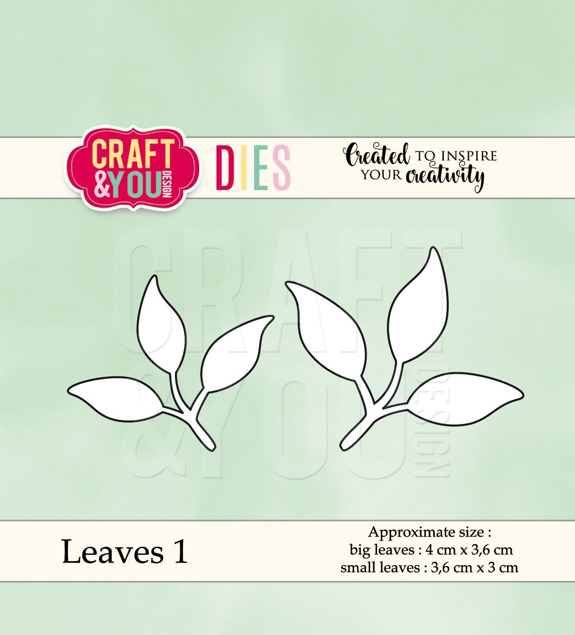CW038 Wykrojnik - Leaves 1-listki 1 -Craft&You Design