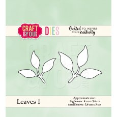 CW038 Wykrojnik - Leaves 1-listki 1 -Craft&You Design