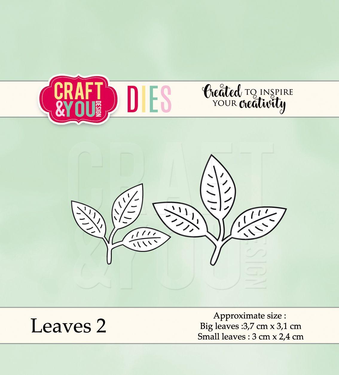 CW039 Wykrojnik - Leaves 2-listki 2 -Craft&You Design