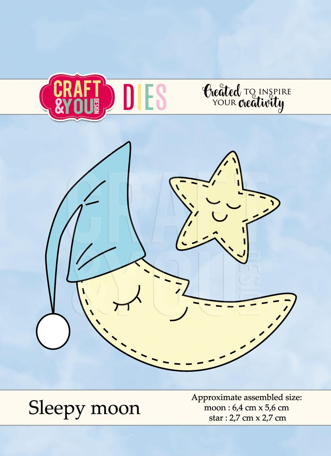 CW049 Высечка -Sleepy moon -moon -Craft & You Design