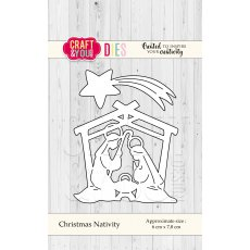 CW054 Wykrojnik  -Christmas Nativity- szopka Craft&You Design
