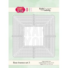 CW059 Wykrojnik -Base frames set 3-ramki -Craft&You Design