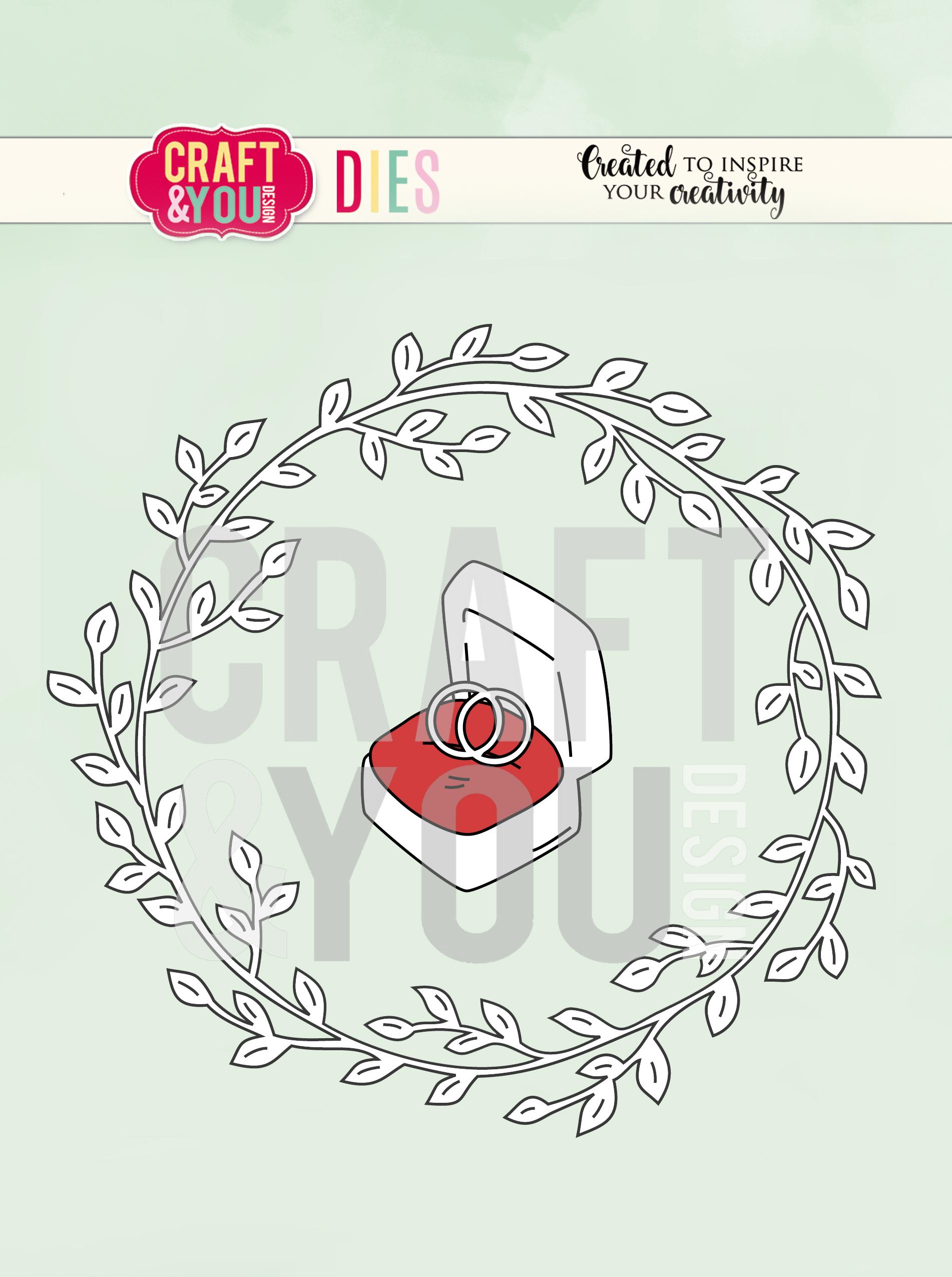 CW081 WYKROJNIK-WEDDING WREATH-WIANEK ŚLUBNY-Craft&You Design