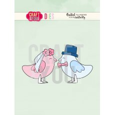 CW084 WYKROJNIK-WEDDING BIRDS-PTASZKI-Craft&You Design