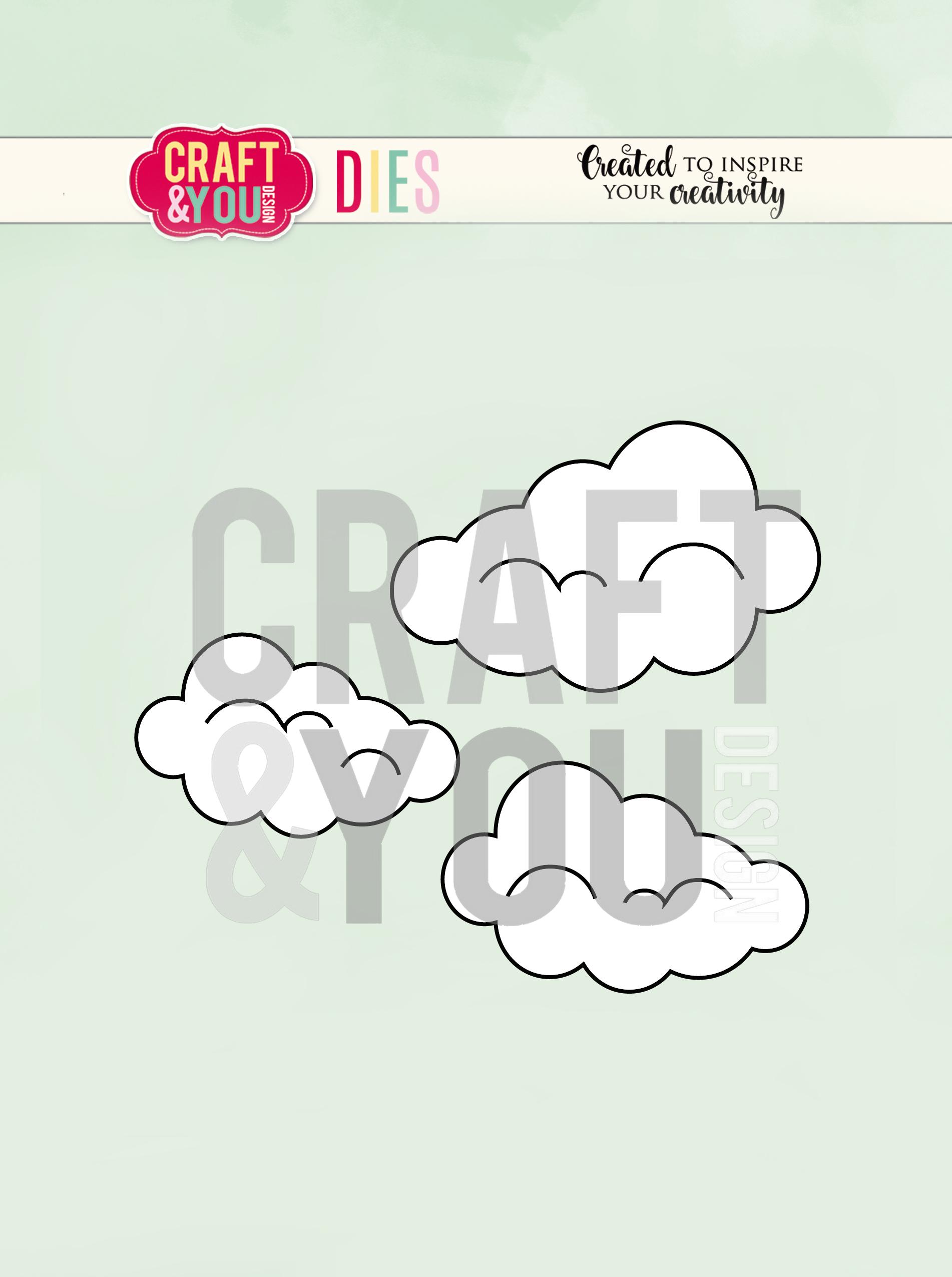 CW087 WYKROJNIK-Clouds-chmurki Craft&You Design