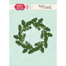CW093 WYKROJNIK- Conifer Wreath- wianek iglasty- Craft&You Design