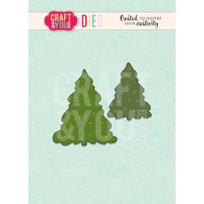 CW096 WYKROJNIK- Christmas trees -choinki- Craft&You Design