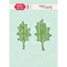 CW097 WYKROJNIK- Holly leaves-listki ostrokrzewu Craft&You Design