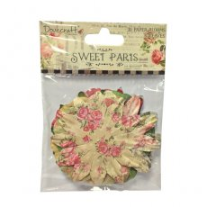 DCBL017 Kwiaty papierowe Dovecraft Sweet Paris Big Paper Blossoms