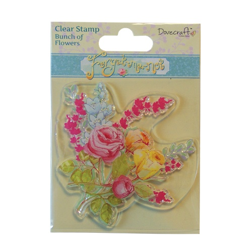 DCCS011 Stempel silikonowy- Forget Me Not- Bunch of Flowers