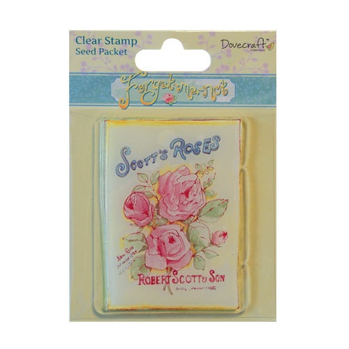 DCCS012 Stempel silikonowy- Forget Me Not - Seed Packet