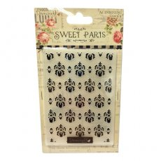 DCEF001 Folder do embossingu Dovecraft Sweet Paris Embossing Folder
