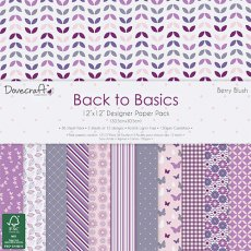 DCPAP028 - Dovecraft - Zestaw papierów 30x30 Back to Basics-Berry Blush