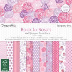 DCPAP063 - Dovecraft - Zestaw papierów 15x15 Back to Basics- Perfectly Pink