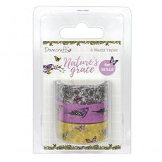 DCWST012 Nature\'s Grace - washi tape 3 szt. Dovecraft