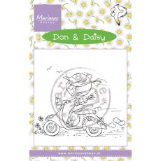 DDS3349 Stempel silikonowy - Don & Daisy - Scooting Daisy