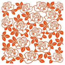 DF3423 Folder do embossingu Marianne Design Embossing Folder -Róże