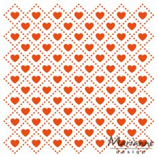 DF3432 Folder do embossingu Marianne Design Embossing Folder -sweet hearts