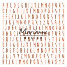 DF3437 Folder do embossingu Marianne Design - ABC