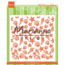 DF3448 Folder do embossingu Marianne Design - muszelki
