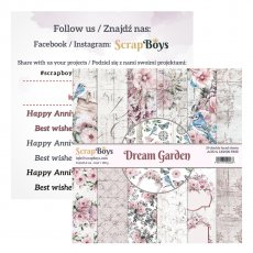 DGRA-09 Bloczek papierów 15,2x15,2 cm Scrap Boys-Dream Garden