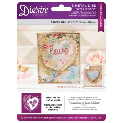 DS-CAD-AIR Wykrojniki  Die\'sire Create a Card-Love is in the Air