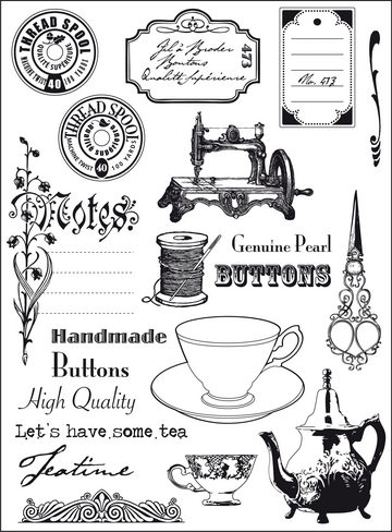 EC0131 Stemple akrylowe Tea Time