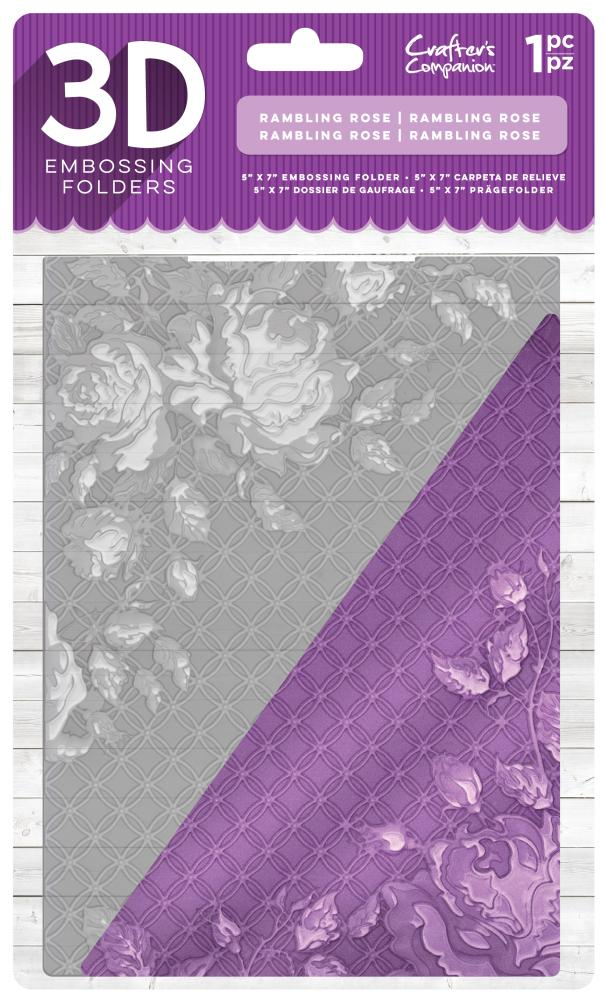 EF5-3D-RROSE Folder do embossingu 3D - Rambling Rose -róże