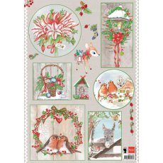 EWK1245 Arkusz A4 -Marianne Design - Country Christmas- Birds