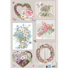 EWK1248 Obrazki A4 Country flowers-Bouqets -bukiety