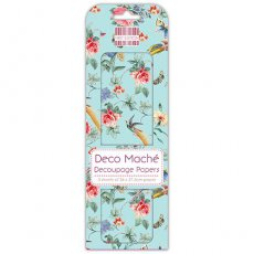 FEDEC281 First Edition Deco Mache-Birds and Roses papier do decoupage\'u