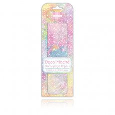 FEDEC310 First Edition Deco Mache-Pastel Galaxy papier do decoupage\'u