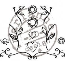 FG2462 Stemple Flowers&hearts ( Quilling )