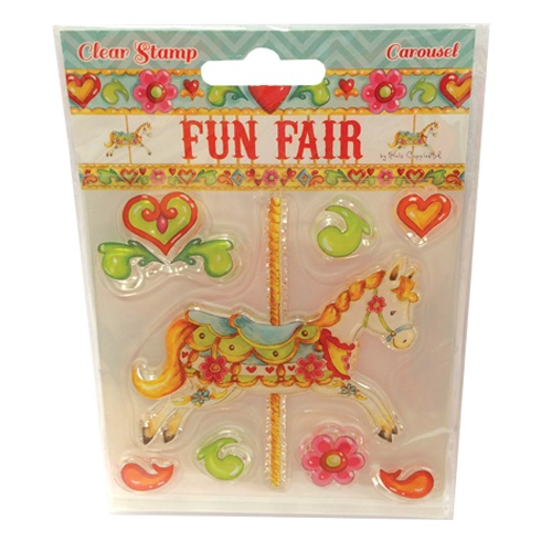 HCCS022 Stempel silikonowy -Fun Fair by Helz Cuppleditch  - Carousel