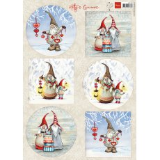 HK1707 Arkusz A4 -Marianne Design -Hetty's Winter Gnomes-obrazki