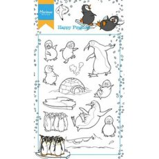 HT1628 Stemple akrylowe -Hetty's Happy Pinguins-pingwiny