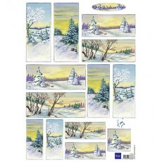 IT0570 Obrazki A4 do wycinania  - Tiny\'s Winter World 1