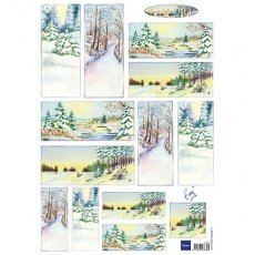 IT0571 Obrazki A4 do wycinania -Tiny\'s Winter World 2