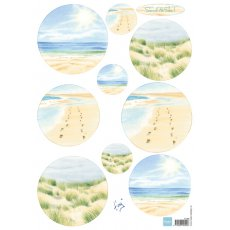 IT585 Arkusz A4 - Marianne Design - Tiny\'s Sand & Sea 1 - Piasek i morze 1