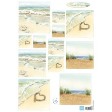 IT586 Arkusz A4 - Marianne Design - Tiny\'s Sand & Sea 2 - Piasek i morze 2